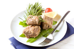 Beef Steak With With Rosemary Royalty Free Stock Photos