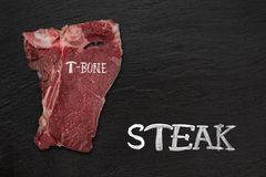 Beef steak on wooden table Stock Photography