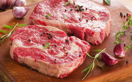 Beef steaks  for  healthy diet Stock Photos
