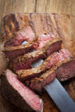 Beef steaks. Beef steak herbs and spices Stock Images