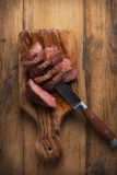 Beef steaks. Beef steak herbs and spices Stock Photography