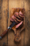 Beef steaks. Beef steak herbs and spices Stock Photo