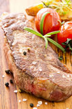 Beef Steaks with Vegetables Royalty Free Stock Image