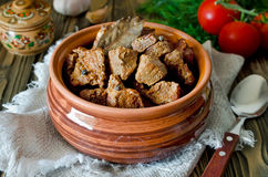 Beef stew with Bay leaf and pepper Stock Image