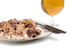 Beef stew with a beer Royalty Free Stock Photography