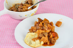 Beef Stew on Biscuit Royalty Free Stock Photo