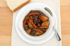 Beef stew in a bowl Stock Images