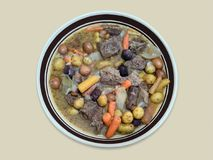 Beef Stew in Bowl Royalty Free Stock Image