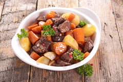 Beef stew with carrot Stock Image