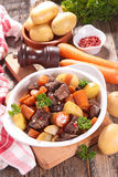 Beef stew with carrot Royalty Free Stock Photo