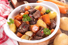 Beef stew with carrot Royalty Free Stock Photos