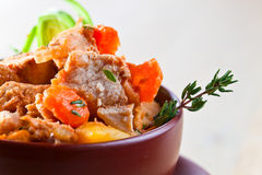 Beef Stew with Carrots and Potatoes Royalty Free Stock Images