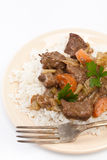 Beef stew with celery and carrot Stock Image