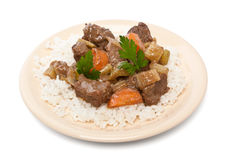 Beef stew with celery and carrot Royalty Free Stock Photography
