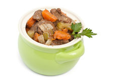 Beef Stew with Celery and Carrots Royalty Free Stock Image