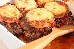 Beef stew with cheddar biscuits Royalty Free Stock Image