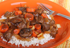 Beef Stew Closeup Stock Image