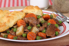 Beef Stew Closeup Stock Photos