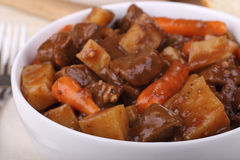 Beef Stew Closeup Stock Photo