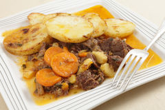 Beef stew with a fork Royalty Free Stock Image