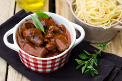 Beef stew goulash with gravy Stock Images