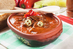 Beef stew or goulash with potato Royalty Free Stock Image