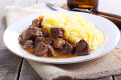 Beef stew with gravy Royalty Free Stock Photo