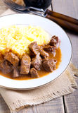 Beef stew with gravy Royalty Free Stock Photography