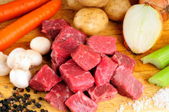 Beef Stew Ingredients Stock Images