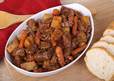 Beef Stew Meal Stock Photo