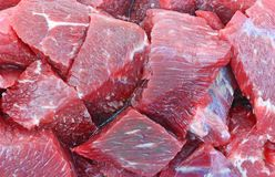 Beef Stew Meat up Close Royalty Free Stock Images