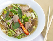 Beef Stew Noodle Soup Stock Image