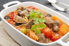 Beef Stew with Olives Royalty Free Stock Photo