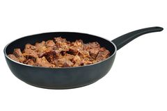 Beef stew in pan Royalty Free Stock Photos