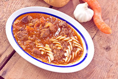 Beef stew with pasta Royalty Free Stock Image