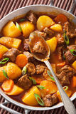 Beef stew with potato and carrot Royalty Free Stock Photo