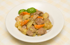 Beef stew with potatoes and carrots Royalty Free Stock Image