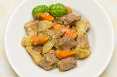 Beef stew with potatoes and carrots Royalty Free Stock Images