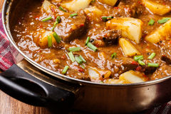 Beef stew with potatoes Stock Photo