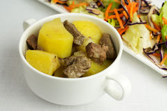Beef stew with potatoes Royalty Free Stock Photo