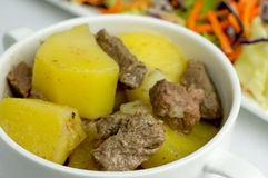 Beef stew with potatoes Royalty Free Stock Photos