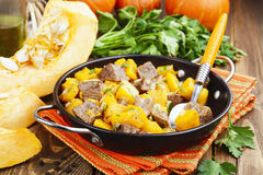 Beef stew with pumpkin Royalty Free Stock Images