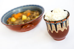 Beef stew with rice Royalty Free Stock Photos