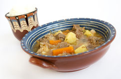 Beef stew with rice Stock Photos