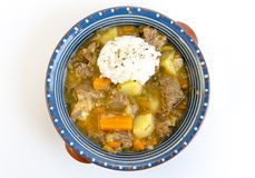 Beef stew with rice Royalty Free Stock Photo