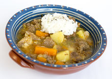 Beef stew with rice Stock Image