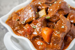 Beef stew with rosemary and vegetables Royalty Free Stock Photography
