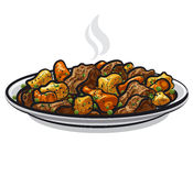 Beef stew. With steamy vegetables Stock Image
