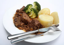 Beef stew and veg royalty free stock photo