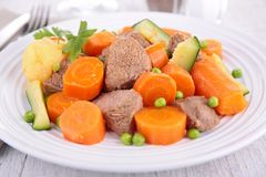 Beef stew and vegetable Stock Image